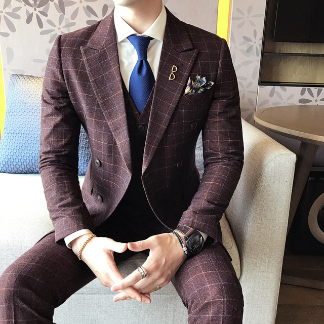 Aliexpress.com : Buy 2017 Blue Wedding Suits For Mens Formal ...
