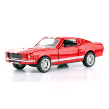 купить JMT Car GT500 1:32 Alloy Diecast Metal Pull Back Car Door Openable Mini Racing Sport Cars Toy for Kids Best Gift дешево