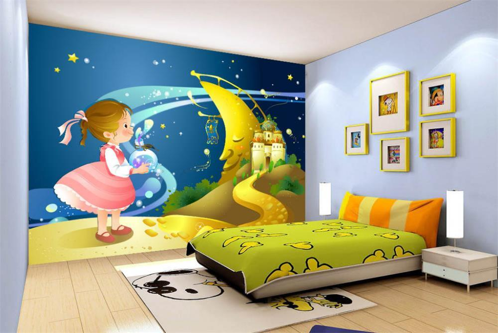 3D Wallpaper/custom Photo Wall Paper/Kids' Room/Cartoon