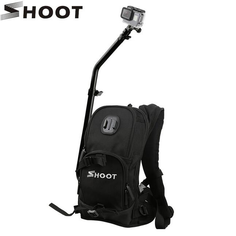 Motorcycle Bicycle Selfie Backpack for GoPro Hero 5 4 Session Yi 4K Go Pro Hero 3 Backpack sjcam sj4000 Camera Pole Stick for go pro accessories handheld extendable pole monopod selfie stick for gopro hero5 hero4 session hero 6 5 4 xiaomi yi sj4000