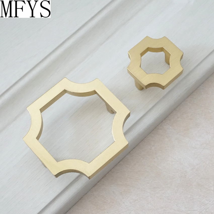 1 25 39 39 2 5 39 39 Kitchen Cabinet Pulls Handles Knob Door Handle Brushed Gold Brass Cupboard Handle Dresser Handle Knobs Drawer Pulls in Cabinet Pulls from Home Improvement