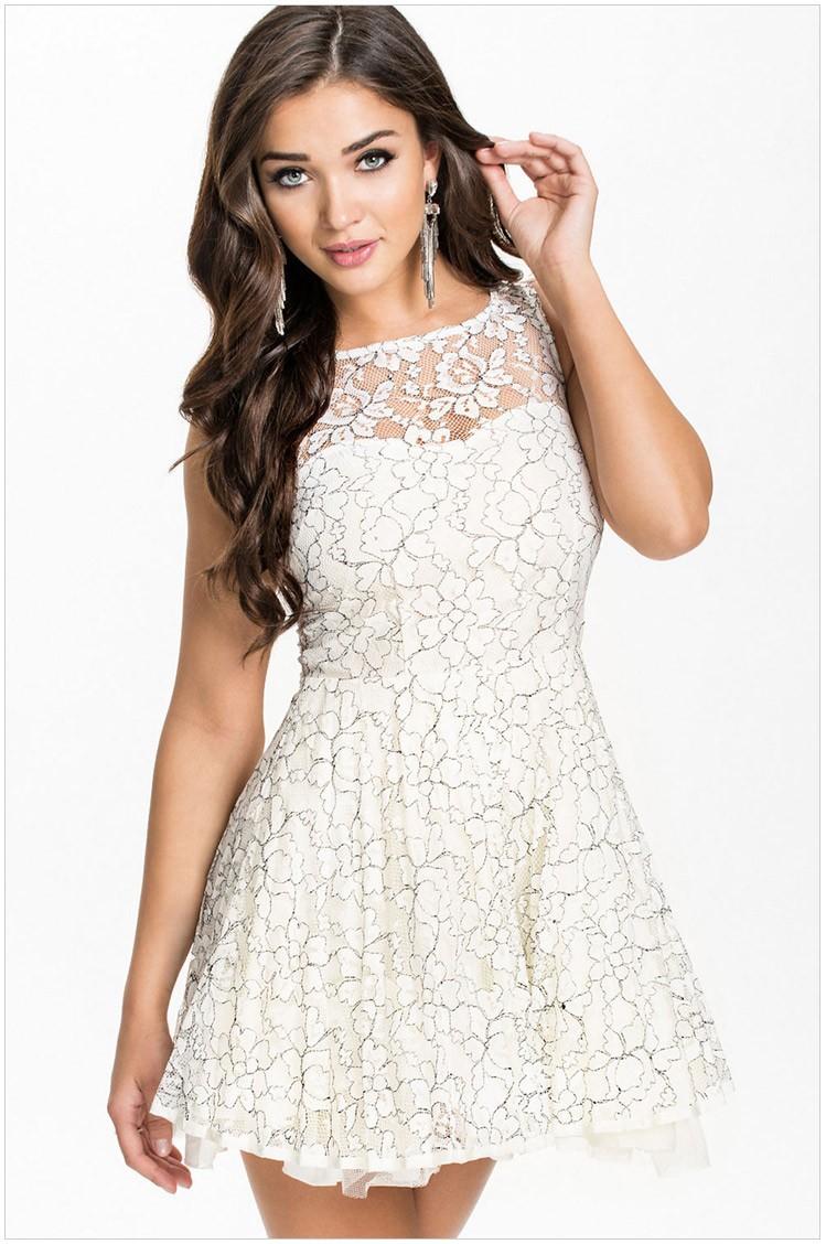 платья лнр милый мини, Seal женщины конькобежец лето модных белый свободного покроя размер lc21722