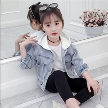 цена на 2019 Spring Autumn Boys and Girls Fashion Denim Jacket