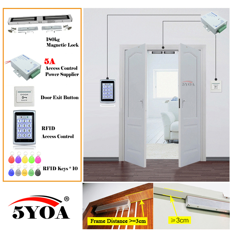 Iron RFID Access Control System Smart Door Lock Safe Kit Electronic Gate Opener Home Garage Digital
