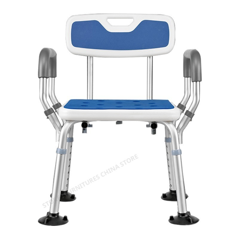 Toilet Chair For Elderly Toilet Foot Stool Shower Seat Shower Chair Toilet Step Aluminum Alloy Adjustable Height Non-slip Stable