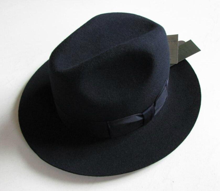 2018 Crushhat 100% Wolle Von Australischen Fedora Mode Unisex Schwarz Homburg Panama Jazz Hut Männer Panama Fedora Schwarz Hüte B-1540