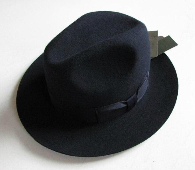 c10a4a8aad3 2018 Crushhat 100% Wool From Australian Fedora Fashion Unisex Black Homburg  Panama Jazz Hat Men Panama Fedora Black Hats B-1540