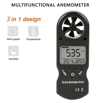 Mini Multipurpose Anemometer Digital Anemometer LCD TL-300 Wind Speed Temperature Humidity Meter with Hygrometer Thermometer
