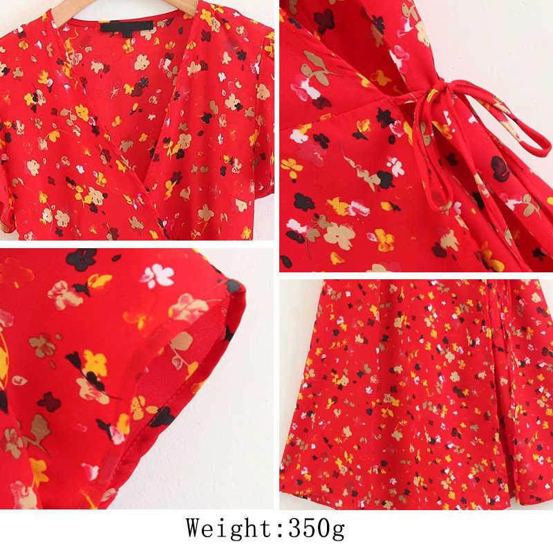 Bella Philosophy 2019 Новое Осеннее женское милое платье повседневное свободное женское платье до середины икры с принтом маленькое Цветочное платье с пышными рукавами