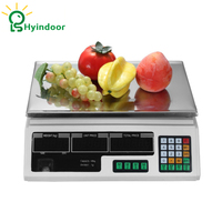 Hyindoor Digital LCD AC electronic pricing scales charging weighing of fruit food price computing for store shop