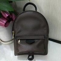 Элитный бренд монограммой рюкзак сумка Для женщин классические модные дизайнерские мини сумка Высокое качество из натуральной кожи милый