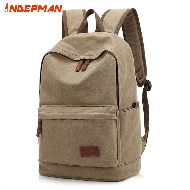 ФОТО Canvas Mochila Masculina Back Pack Solid Zipper Preppy Style Backpack Casual Rucksack for Daily School Travel Black 20-35L