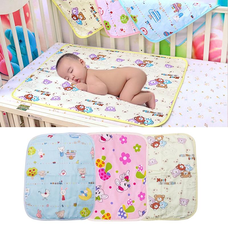 Matelas à langer imperméable à l'eau coton lavable bébé infantile tapis d'urine Nappy Bed # H055 #