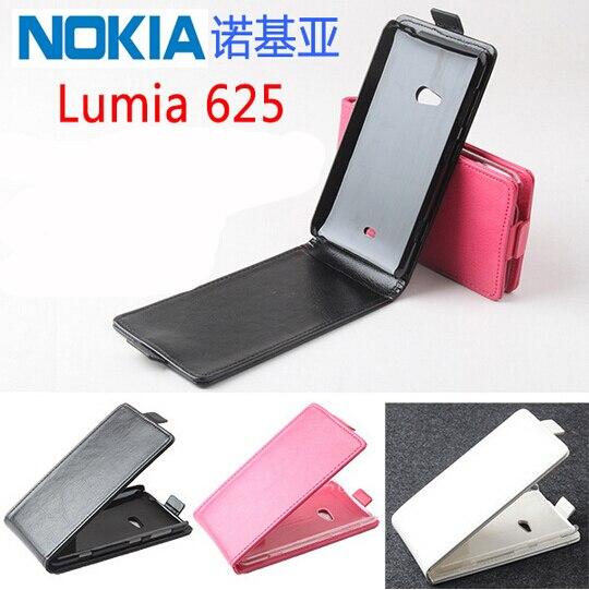 Galleria fotografica Neuf de Haute Qualité PU Cuir Flip Couverture De Cas pour Nokia Lumia 625 Smartphone Couvre En Cuir Téléphone Cas Pour Lumia 625 Téléphone Sac