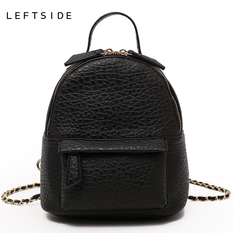 d26e5248ff LEFTSIDE Female Small Backpack Women Crossbody Bags Ladies PU Leather Back  Pack Simple Style Backpacks For Girls Travel Bagpack