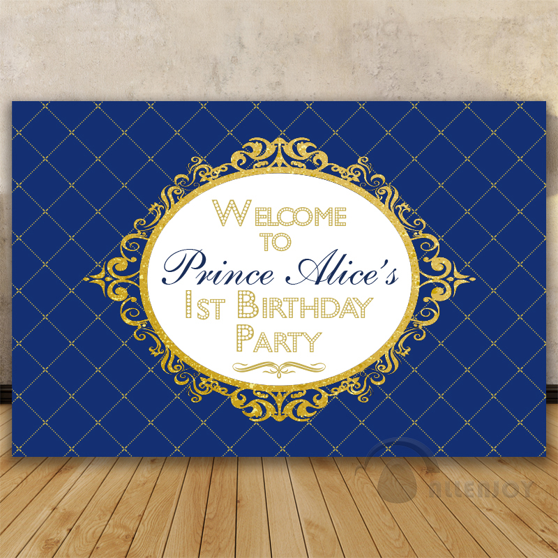Prince Party Backdrop Baby Shower 1st Birthday Invitation ...