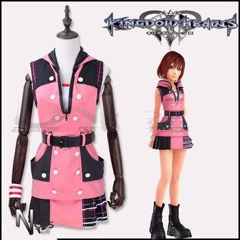 Kingdom Hearts III Costume Kairi Cosplay Costume Outfit Combat Women Halloween Carnival Cosplay Costume Adult Suit