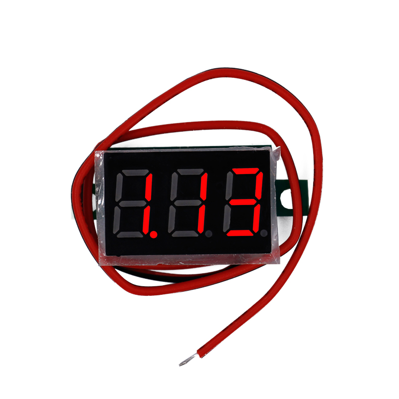 Red LED display Mini Digital 4.5v-30v Voltmeter tester Voltage Panel Meter For Electromobile Motorcycle car motopower grey 12v smart digital battery tester voltmeter alternator analyzer with lcd and led display for car motorcycle boat