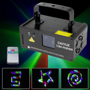 3D RGB 400mW DMX 512 Laser Scanner Projector Stage Lighting Effect IR Remote Party Xmas DJ Disco Show Lights Full Color Light