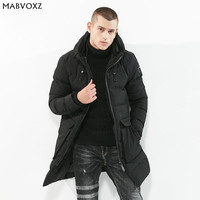 Winter Men Parkas Long Style Windbreaker Hooded Down Jackets European and American Style Warm Thick Male Clothing
