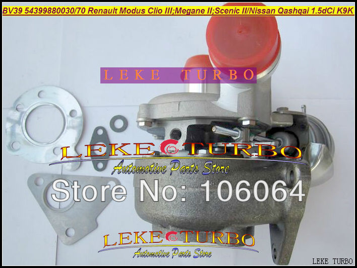 BV39 54399880030 54399880070 Turbo Turbocharger For NISSAN Qashqai For Renault Modus Clio III Megane II Scenic II K9K 1.5L dCi