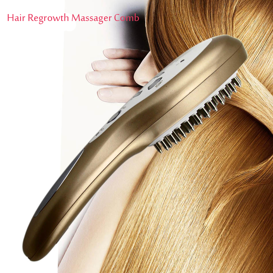 Perfect Hair Loss Nourish Treatment Electric Hair Follicle Stimulator Massager Comb Hair Regrowth Free Shipping