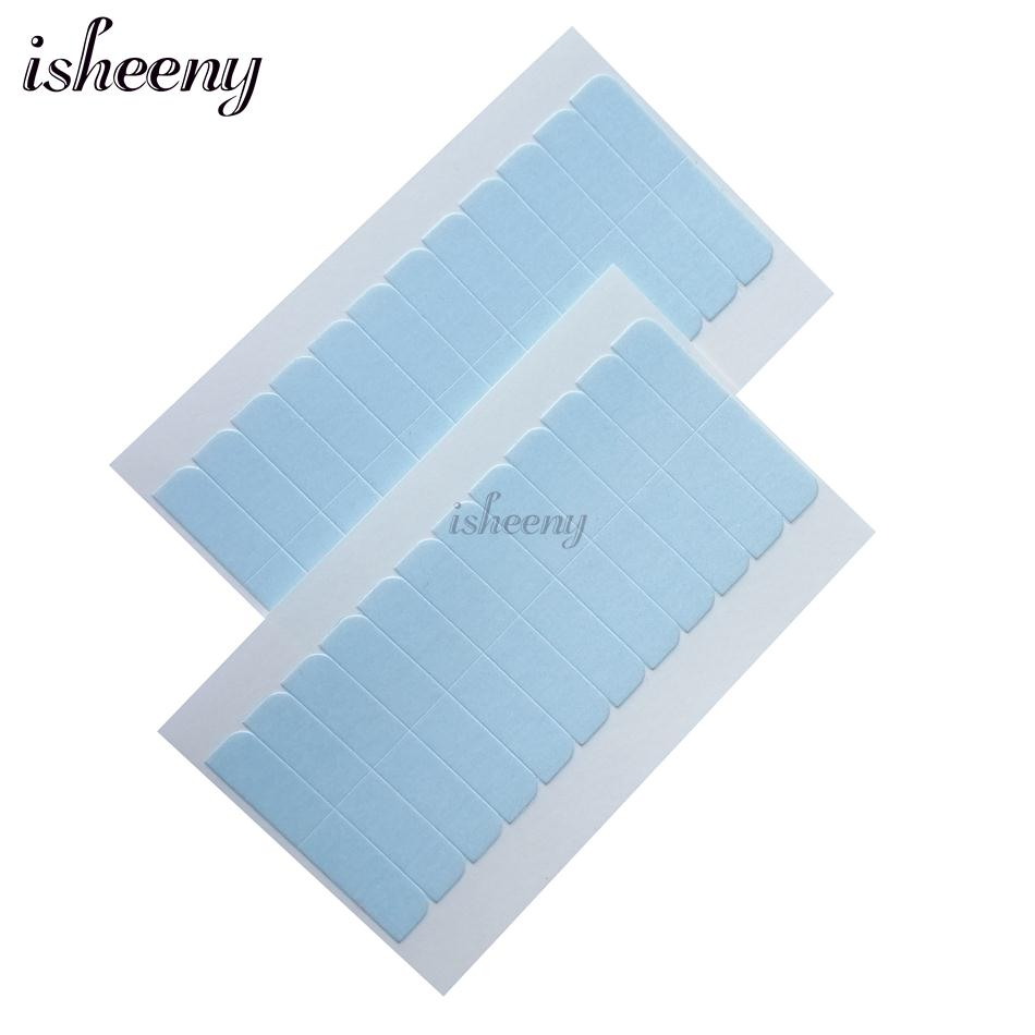 Loyal Pre Cut Double Side Tape Tabs 5pcs/lot White Hair Extension Adhesive Replacement Glue Tape For Tape Hair/ Toupee/ Lace Wig Blue