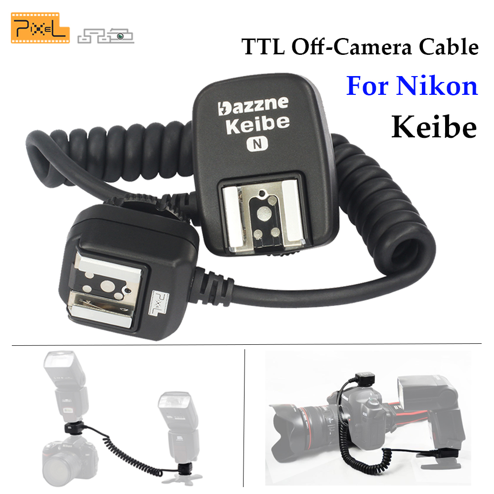 Pixel Keibe 1m/3.6m TTL Off-Camera Hot Shoe Sync Cord Flashgun Cable For Nikon D5200 D3200 D7200 D800 D90 SB910 SB900 Flash Cord 2018 yiwi a5 a6 line flower inner page for binder notebook matching filofax refill inner paper 40 sheets page 3