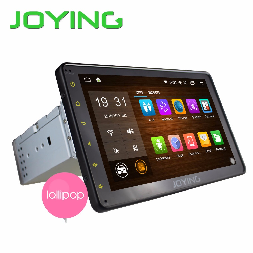 Joying Newest 8'' Single 1 Din Quad Cord Android 5.1 Car Stereo GPS Navigation Music Player Support 3G WIFI SWC Dual Zone PIP