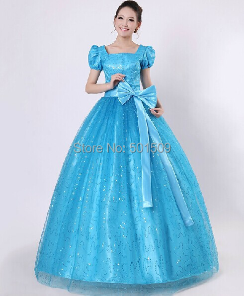 womens tuxedo blue sequins belle ball gown medieval long dress costume Victorian Gothic Lol/Marie Antoinette/civil war/Colonial