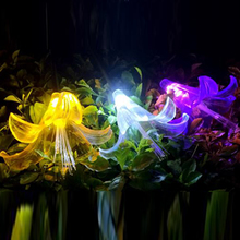 2019 New Waterproof Led Solar Lily Lamp Outdoor Park Courtyard Decoration Lawn Aunty-lily Flower Inserted Solar energy awful aunty