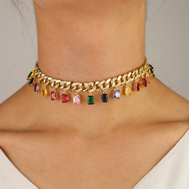 Gold filled choker necklace