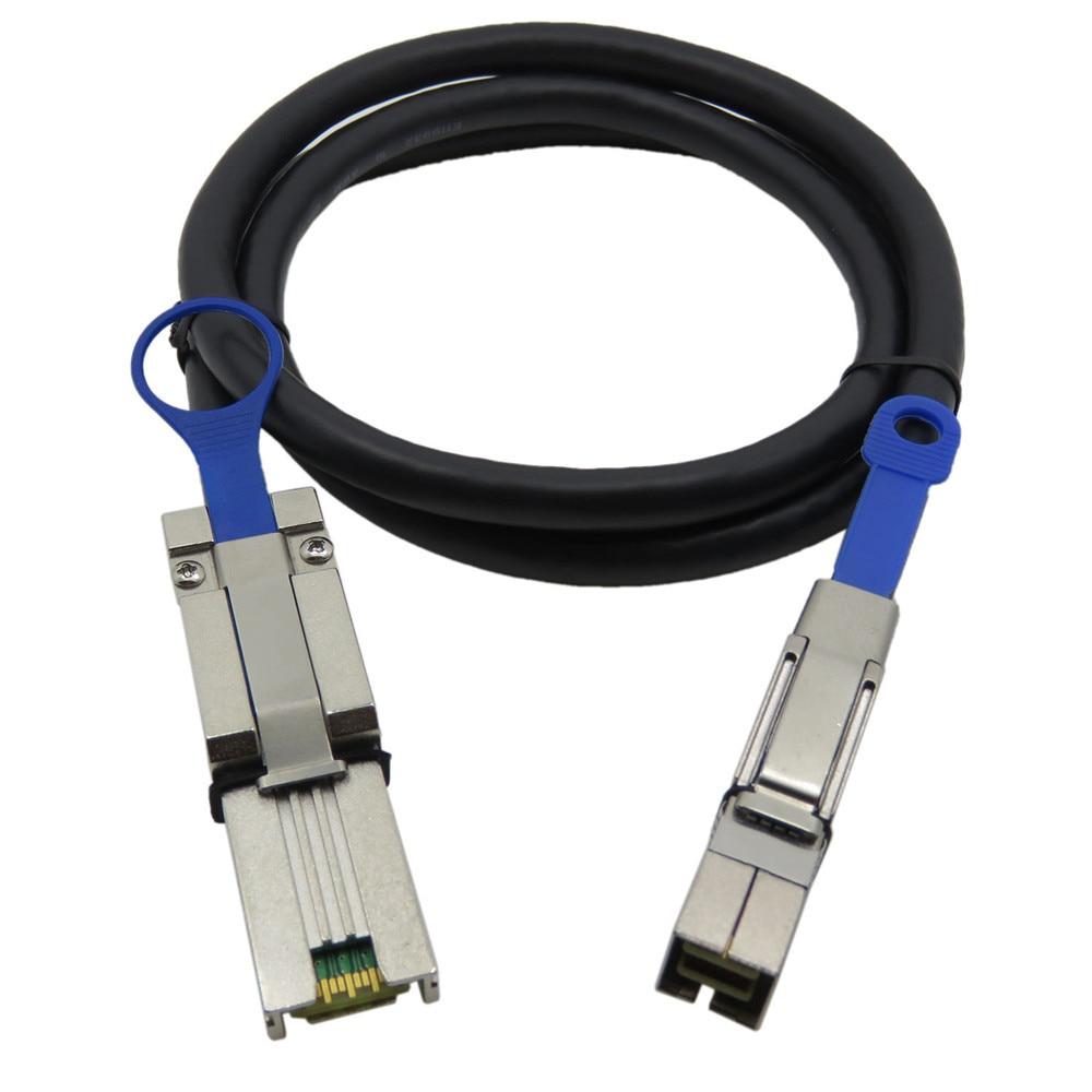 все цены на  4X SFF 8088 External Mini SAS to Mini SAS High Density HD SFF 8644 Data Cable 2M  онлайн