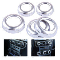DWCX 5Pcs Car Styling Chrome Dashboard Console Switch Button Ring Cover Trim Fit For Land Rover