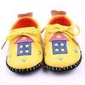 Классический Детей Baby Дети Мальчик в Девочке ПУ Дом Этаж Обувь Осень Мода Non-Slip Мягкие Малышей Первые Ходунки