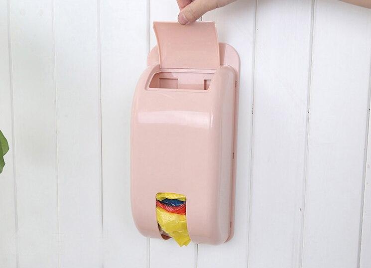 Настенное крепление контейнер держатель мешок для мусора, Диспенсер Recycle мешок коробка для хранения Пластик Кухня Бакалея Бункеры Организа...