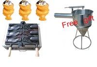 Купить машину бесплатно получить 6 подарки! Electrec мороженое аппарат Taiyaki рыба вафельница