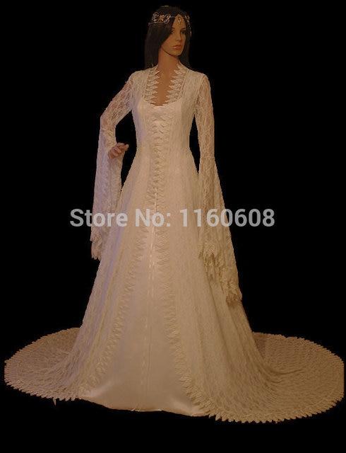 Renaissance Spitze Vintage stil Spitzenkleid Elven Kleid Fantasie ...