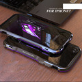 Luphie Luxury Metal Aluminum dual color Bumper Frame Anti-Knock phone Cases Cover for Apple iPhone 7 case iPhone 7 Plus case