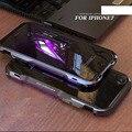 Luphie luxo metal de alumínio dual color bumper quadro anti-batida telefone casos tampa para apple iphone 7 case iphone 7 plus case