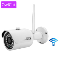 OwlCat WiFi IP Camera Bullet Outdoor Onvif Wireless Network Kamara 2MP Full HD 1080P 720P IR