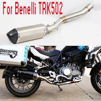 For Benelli TRK502 Exhaust Motorcycle Full Exhaust System Slip On Muffler Escape Mid Tube DB killer For Benelli TRK 502 BE050