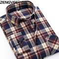 Мужские Фланелевые Рубашки Плед Персик Хлопчатобумажные фланелевые рубашки мужчины slim fit мужские рубашки весна осень случайные рубашки camisas