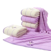 High Quality Luxury 100 Lavender Cotton Fabric Towel Set Bath Towels For Adults