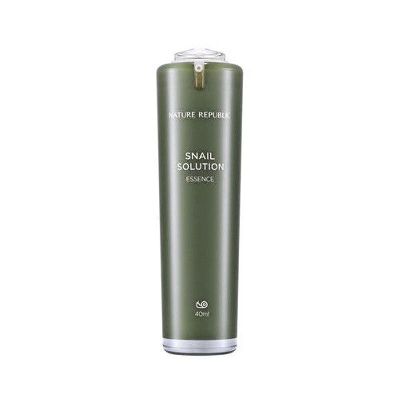 Nature Republic Snail Solution Essence 40ml Snail Serum Anti Wrinkle Collagen Whitening Cream Repair Facial Care Acne Treatment