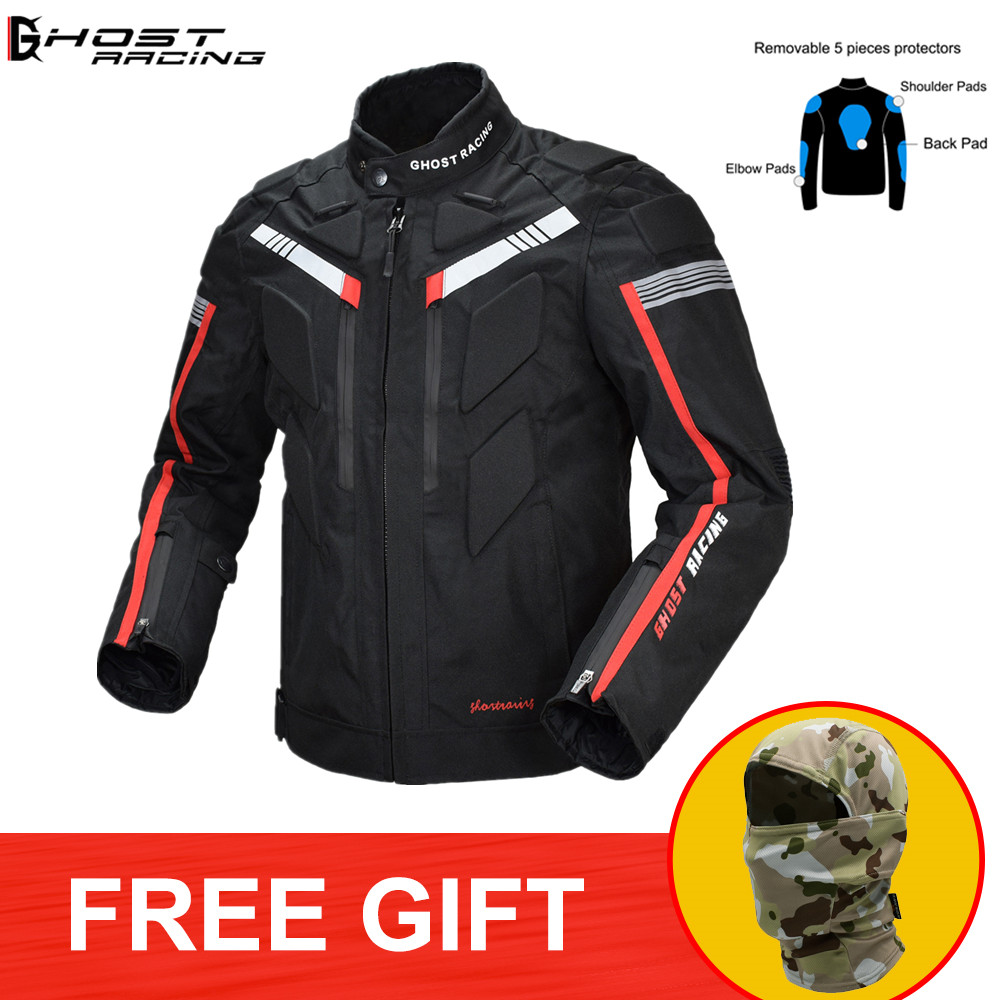 GHOST RACING Motorcycle Jacket Motocross Full Body Protector Armor Riding Coat OffRoad Moto Clothing Waterproof Protective Gear