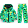 2016 New Autumn Winter Hooded Jacket Boy Windbreaker Dinosaur Sets Children Weatherproof Clothes Suits Long Sleeve Coat Jacket
