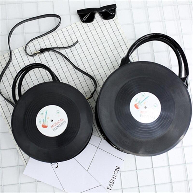 ФОТО Women Girl Lady Japan Lolita Style Vintage Round Vinyl Records CD Designer Bag Messenger Handbag