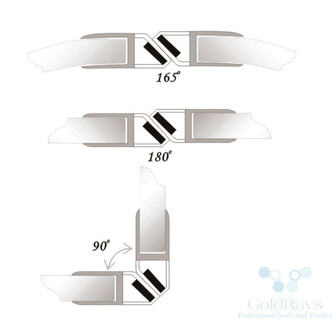 008a1w 8mm white magnetic door seal magnetic strip shower door glass shower door seal strip glass