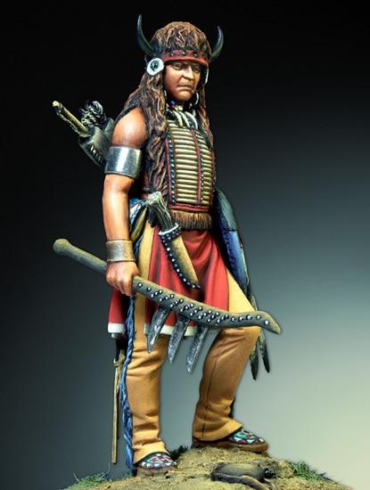 Sioux Warrior Indigenous Amerindian   54mm